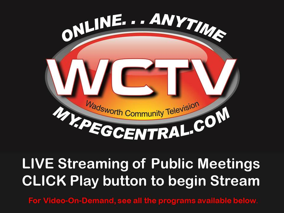 Scheduled Live Streams of Public Meetings
